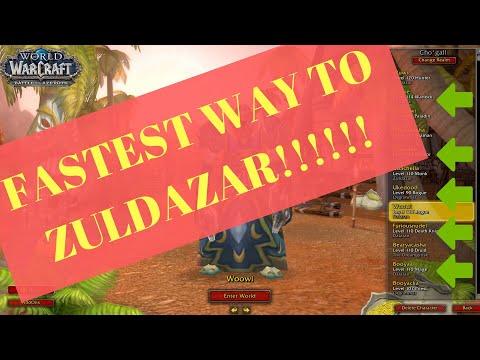 HOW TO Get Your ALT To Zuldazar FAST!  Full Walkthrough | BFA | 8.0.1