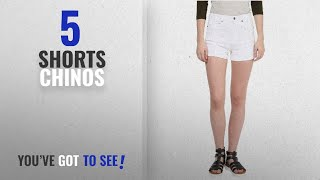 Top 10 Shorts Chinos [2018]: Hypernation White Color Cotton Shorts For Women