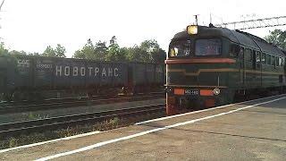 РЖД: Проезд Тепловоза М62-1492 на станции