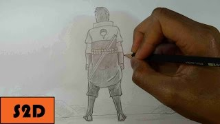 How To Draw Sasuke Backwards (Cool Pose)