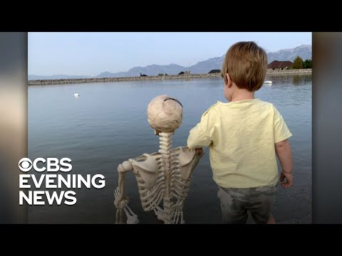 Halloween skeleton becomes 2-year-old boy's best friend