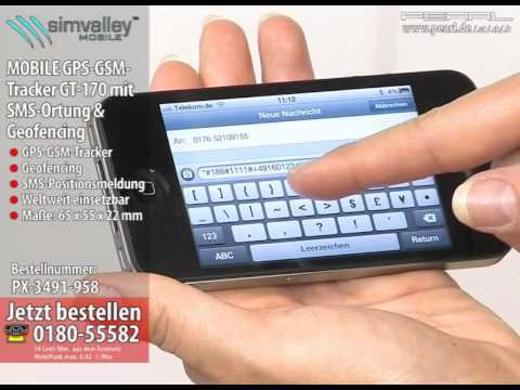 simvalley MOBILE GPS-GSM-Tracker GT-170 V.1 - SMS-Ortung & Geofencing