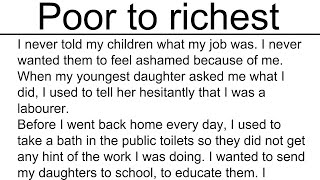 Poor to richest story