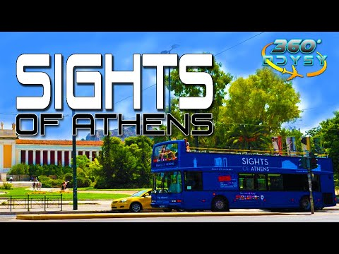 360° Sights of Athens bus tour 4K VR