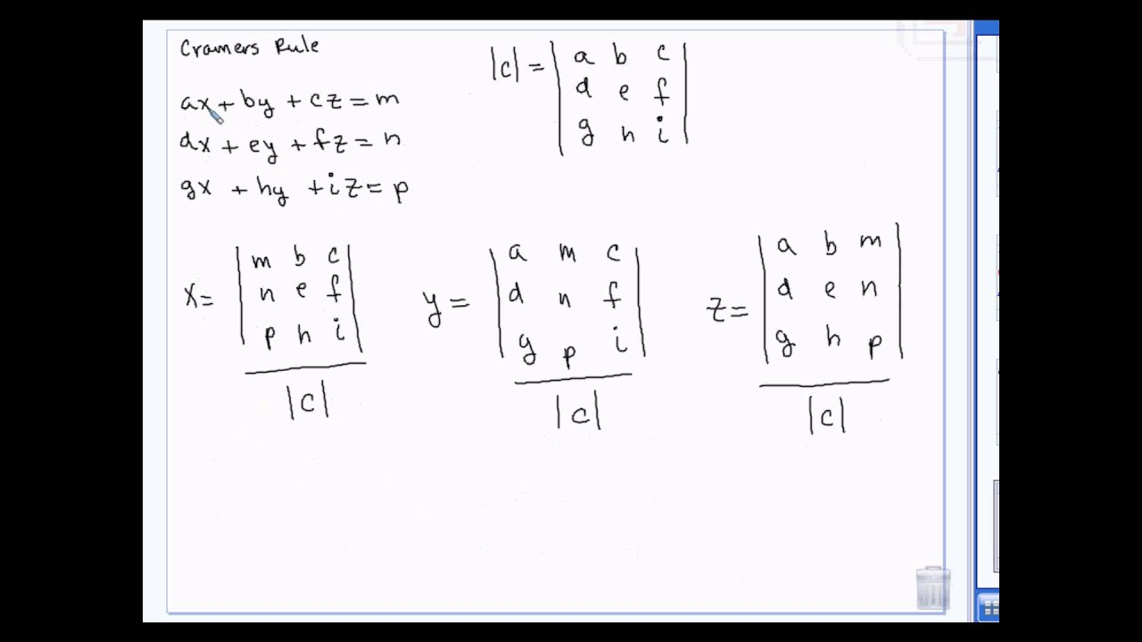 Algebra 2- Solving Systems of Equations in 2 and 3
