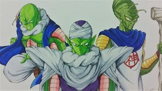 Drawing SUPER PICCOLO | FUSION with NAIL & KAMI | Dragonball Z | TolgArt