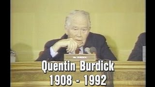 The Legacy Of Senator Quentin Burdick