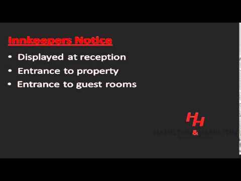Choice Hotels- Innkeepers Liability