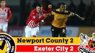 Newport 2-2 Exeter (16/11/14) - Sky Bet League 2 Highlights 2014/15