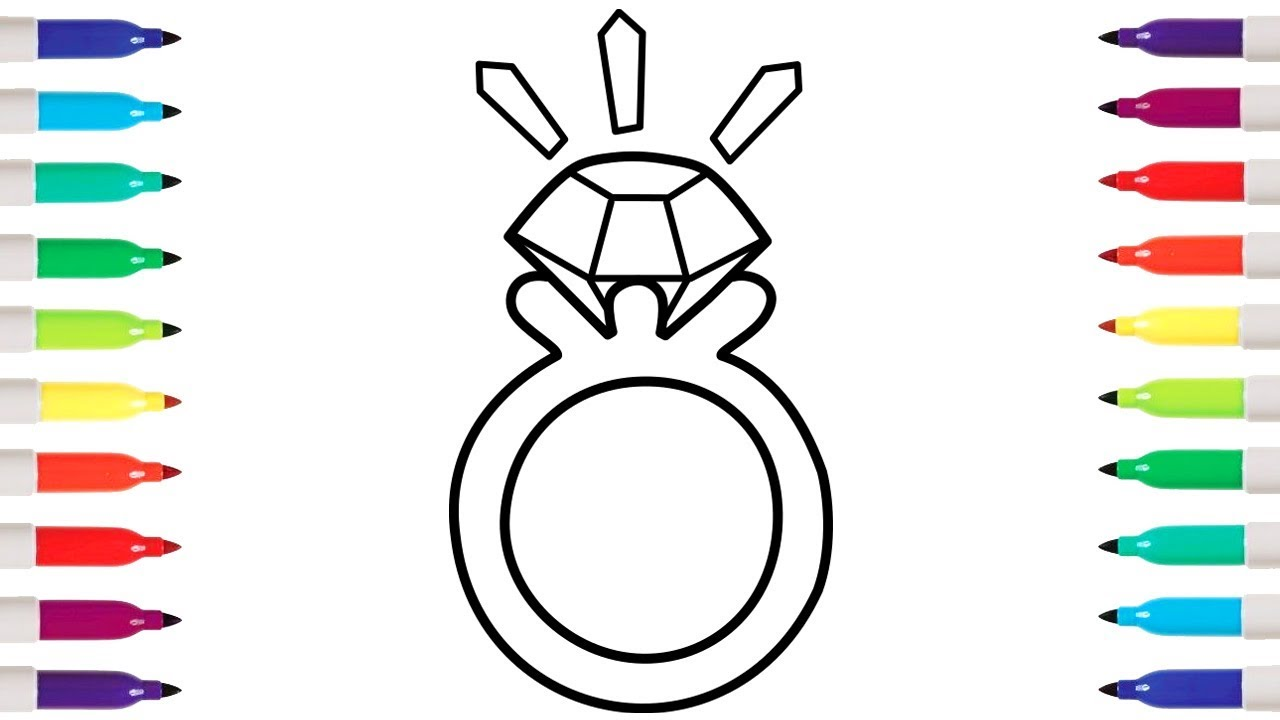 Gemstone coloring page | 720x1280