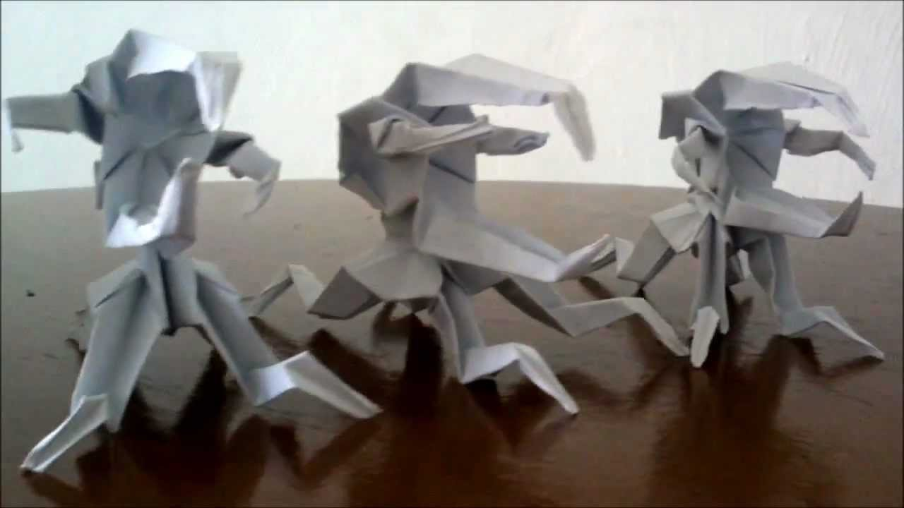 Origami Paper MonstersBug Warrior Unicorn Bug D