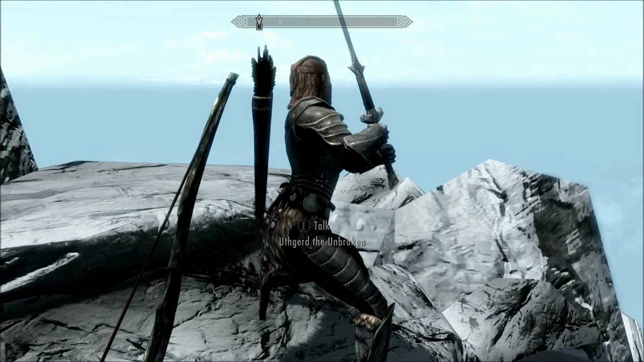 Skyrim - Fus Ro Dah Off Highest Point  Throat Of The World