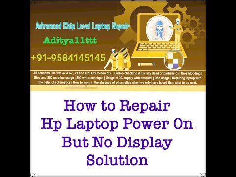 How to Repair Hp Laptop Power On But No Display issue solved by #SatishBhai & #Aditya11ttt