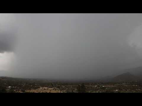 Giant Tower of Water - Monsoon Storm over Morongo Valley - Part II