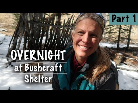 Woman Sleeping In Bushcraft Shelter - Come Hang With Me At My Camp - Giveaway -Season 2 -Ep#23