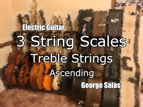 Guitar Lesson - 3-String Scales - Natural Scales