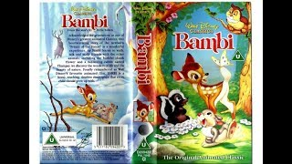 Download Bambi UK VHS opening (1994)