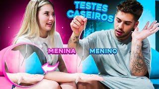 FIZEMOS TESTES CASEIROS PARA DESCOBRIR O SEXO DO NOSSO BEBE!!