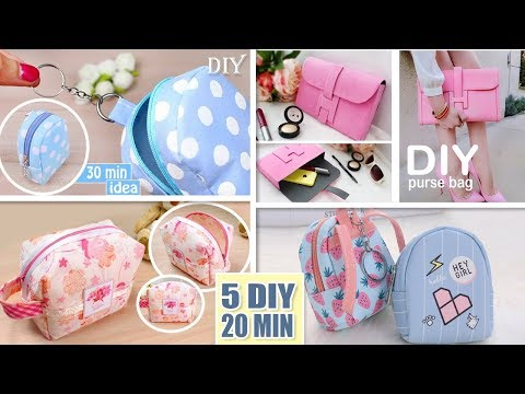 5 DIY CUTEST POUCH DESIGN EVER SEEN MAKING IN 10 MIN You Should Try