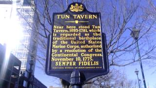 United States Marine Corps Birth Place Tun Tavern