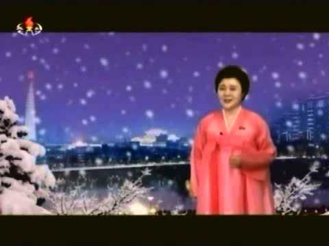 Celebrating New Year 2014 in North Korea - Fireworks Display (0:00 KST)