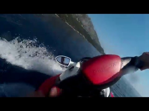 Hydrocycle on the sea