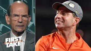 Paul Finebaum gives Clemson credit, says the Tigers have a chance at the CFP title | First Take