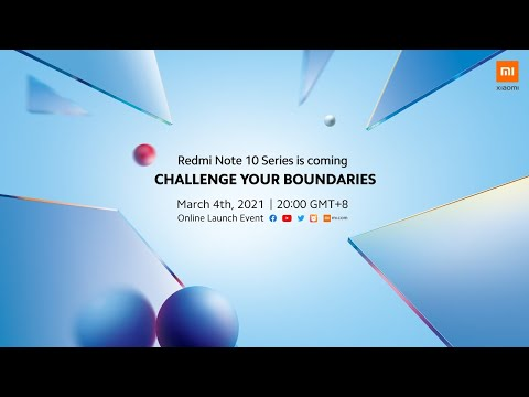 Redmi Note 10 Series Global Launch Event