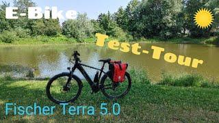 E-Bike Fischer Terra 5.0 erste Test-Tour / neue Taschen 🚵 Velpker -Schweiz / Oebisfelde