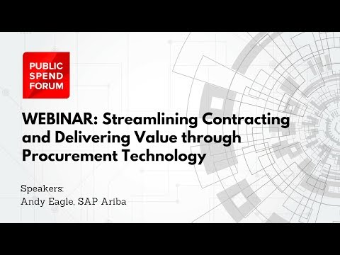Streamlining Contracting and Delivering Value through Procurement Technology