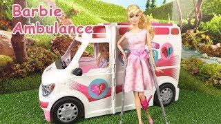 Barbie Ambulance 2018  Barbie aux Urgences Jambe Cassée