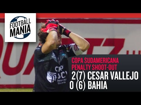 Univ. Cesar Vallejo (PER) 2(7)-(6)0 Bahia (BRA) - Penalty Shoot-out! - Copa Sudamericana 2014