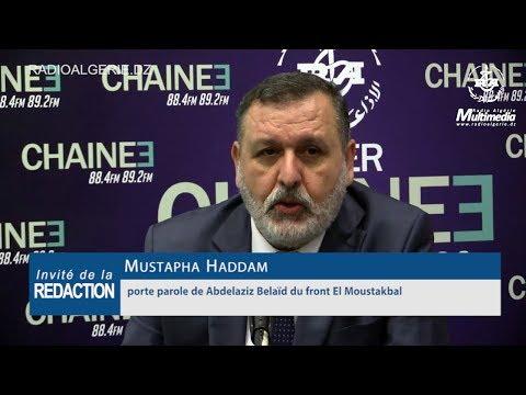 Mustapha Haddam porte parole de Abdelaziz Belaïd du front El Moustakbal candidat à la présidentielle