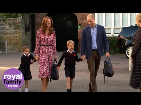 'She's very excited!': Princess Charlotte arrives for first day of school
