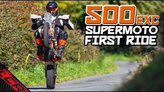 FIRST RIDE | KTM 500 EXC Supermoto
