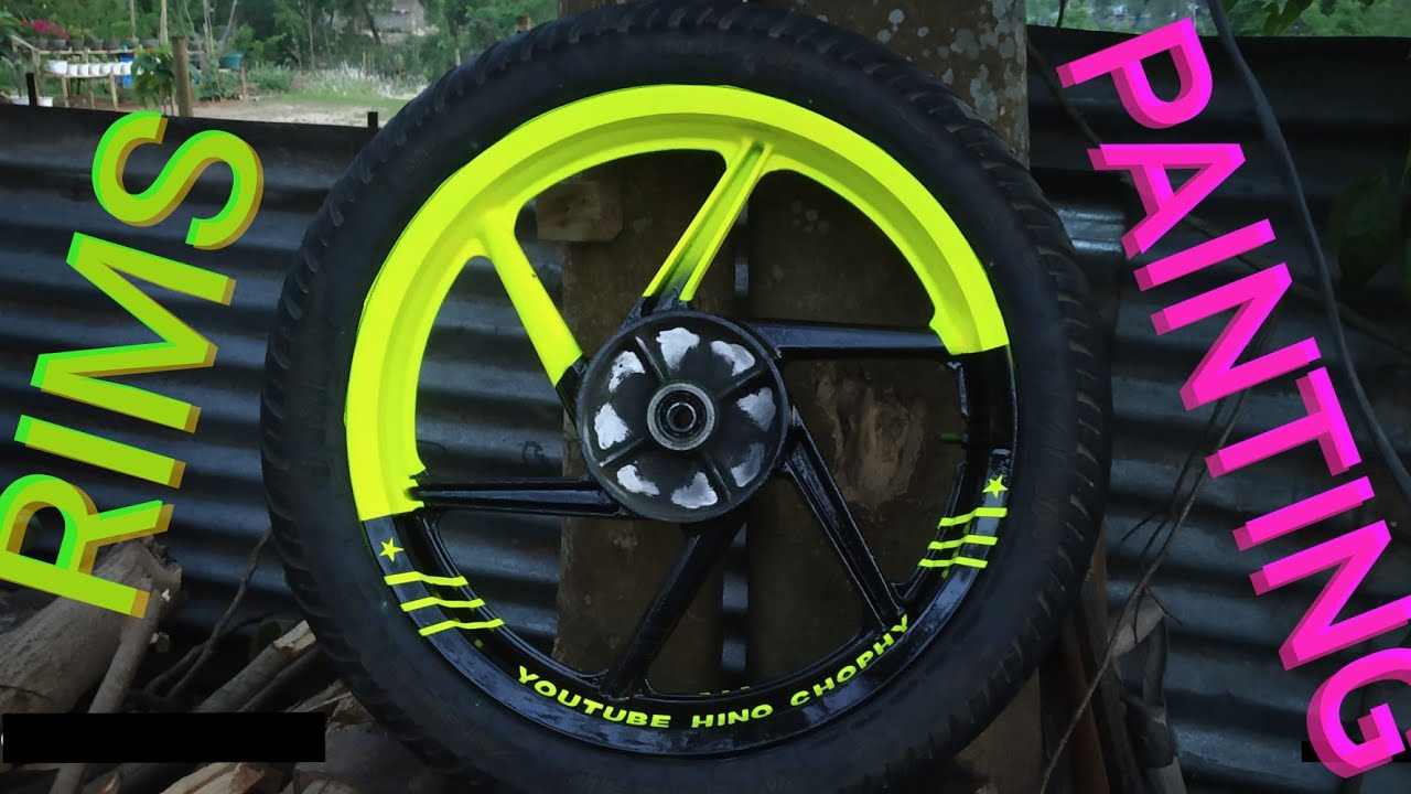 Custom rims painting method / Cars and Bikes Alloy wheel painting - YouTube