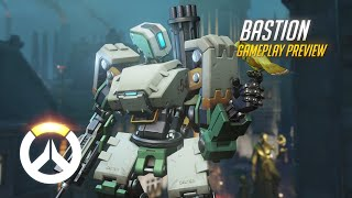 Bastion Gameplay Preview | Overwatch | 1080p HD, 60 FPS