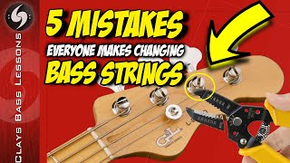 5 Noob MISTAKES and 5 PRO TIPS for how to change BASS STRINGS!