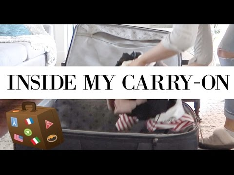 PACK WITH ME: What's In My Carry-On? | allanaramaa