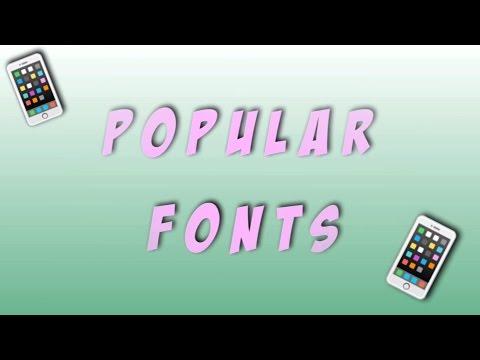 VIDEO STAR FONTS  /  USER FONTS