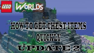 Lego Worlds How To Get All Chest Items Quickly - UPDATE 2