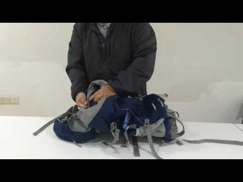 Mountaintop 50L blue backpack 3