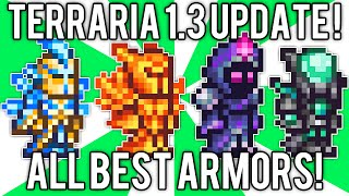 Terraria 1.3: All BEST Armor! Nebula, Solar Flare, Vortex, & Stardust Armor Sets! // demize