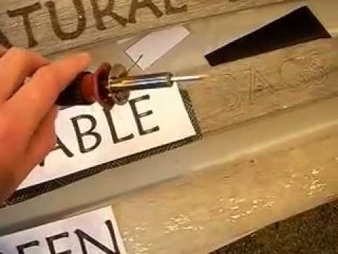 wood burning 101 pyrography letters signs for fun on recycled wood youtube