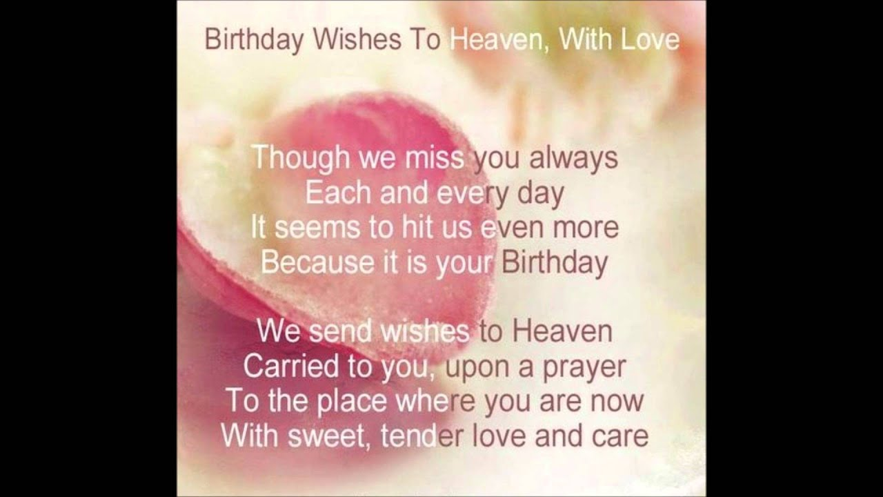Missing My Mom In Heaven Quotes Heavenly Birthday Wishes To You Mom  Youtube