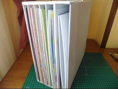 Diy organizador papeles scrapbook youtube - Organizador de papeles ...