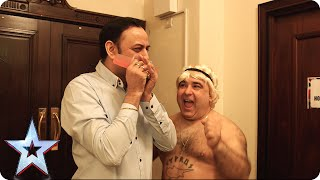 Comb-pelling! Stavros Flatley chats to Narinder | Britain's Got Talent 2015