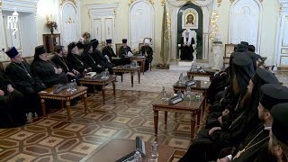 Святейший Патриарх Кирилл встретился с делегациями Поместных Православных Церквей