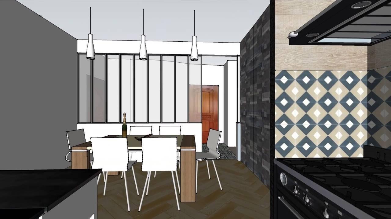 projet architecture int rieur appartement haussmannien youtube. Black Bedroom Furniture Sets. Home Design Ideas