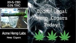 Order Legal High CBD Hemp Cigars